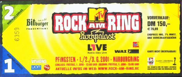 Rock Am Ring Karte.Rock Am Ring